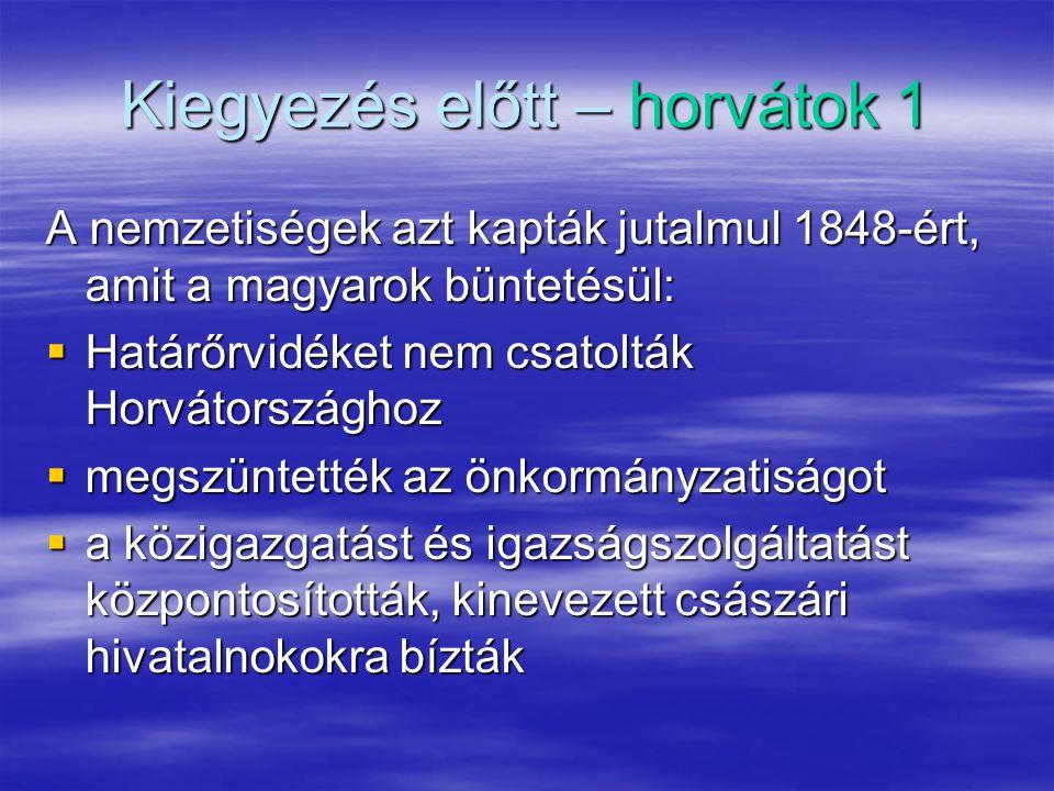 Kiegyezés előtt – horvátok 1