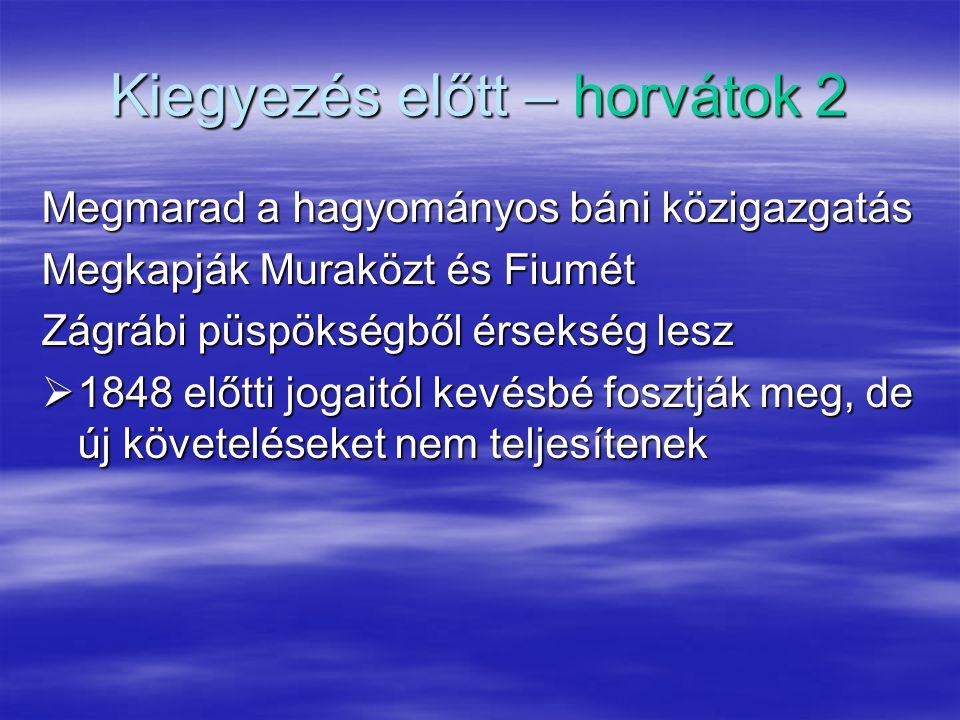 Kiegyezés előtt – horvátok 2