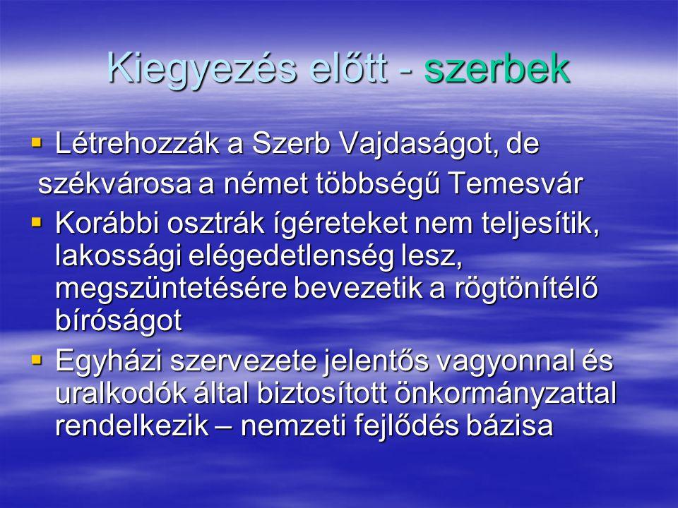 Kiegyezés előtt - szerbek