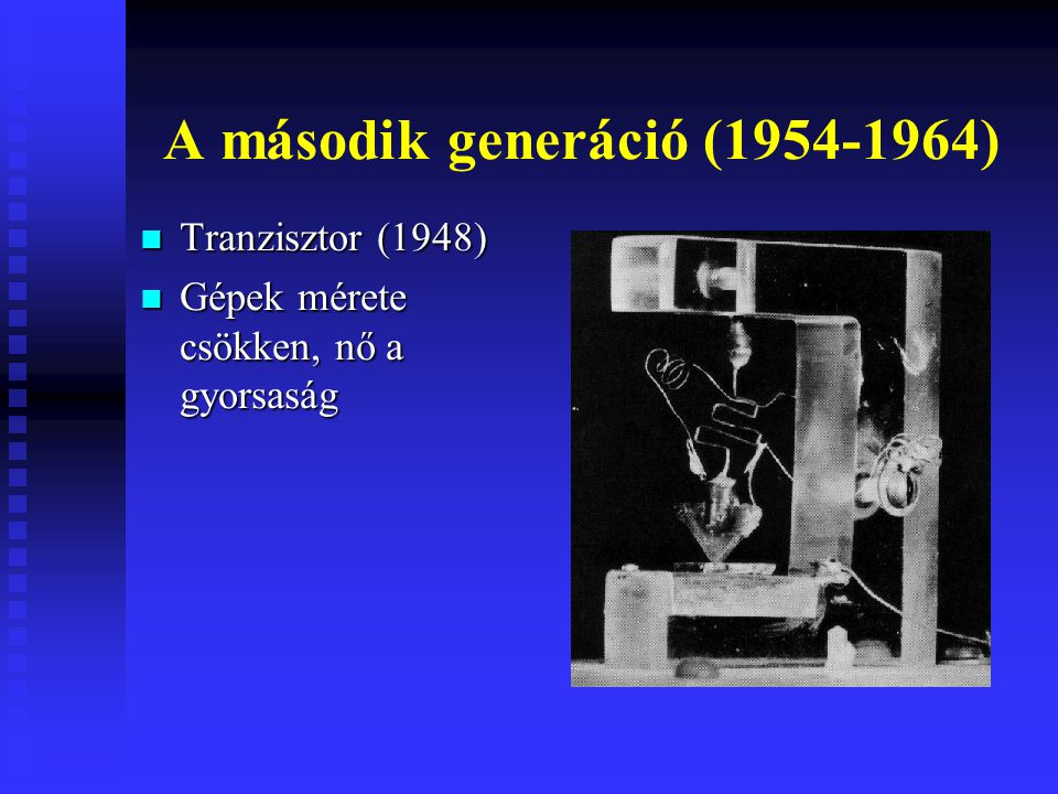 A második generáció (1954-1964)