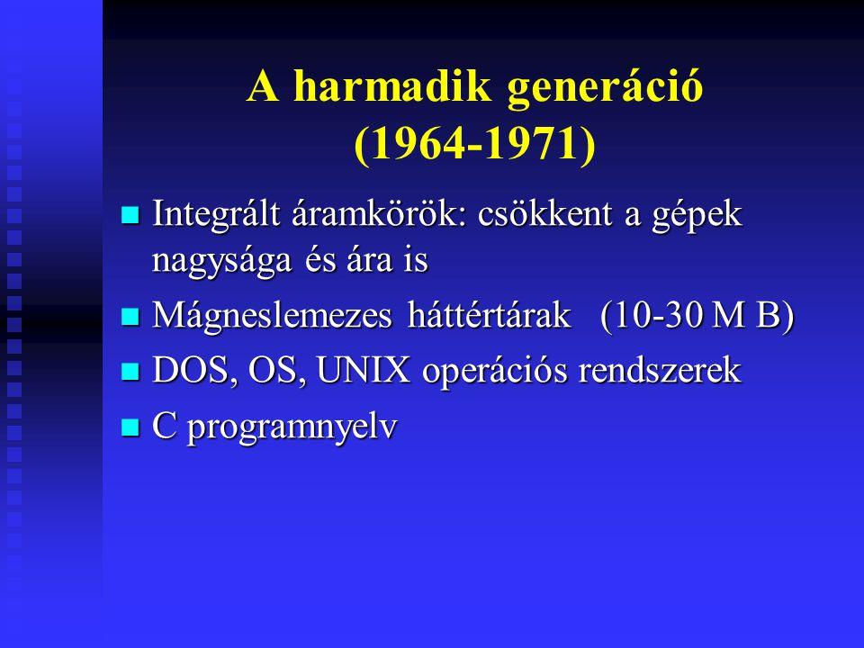 A harmadik generáció (1964-1971)
