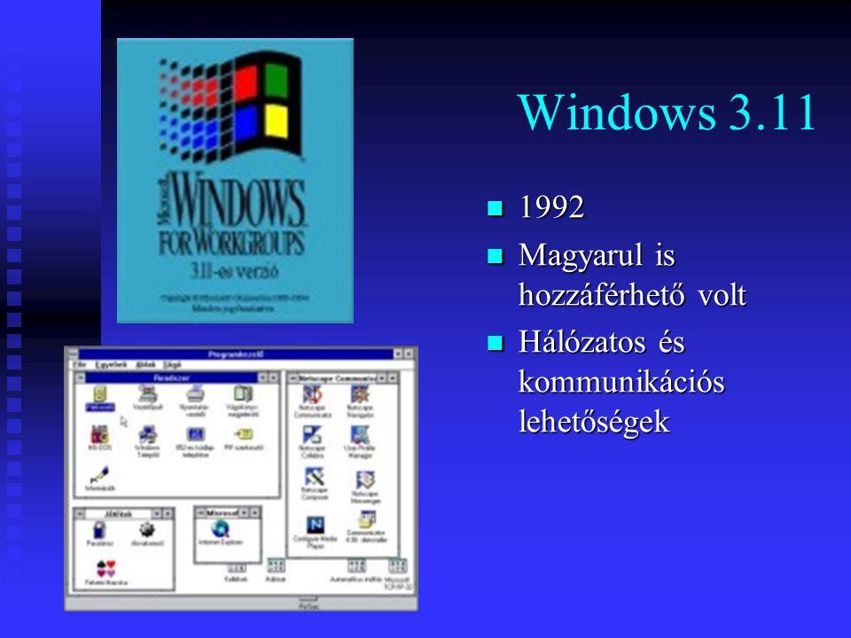 Windows 3.11 1992 Magyarul is hozzáférhető volt