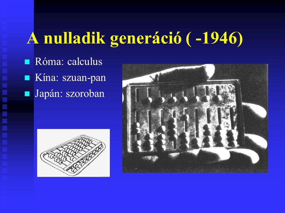 A nulladik generáció ( -1946)