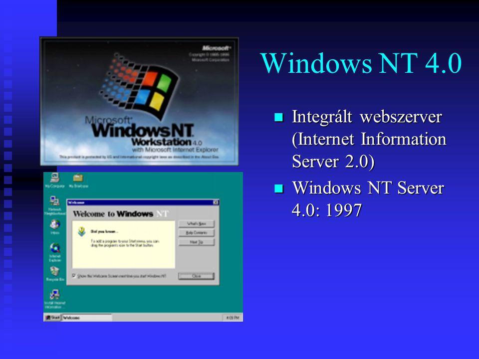 Windows NT 4.0 Integrált webszerver (Internet Information Server 2.0)