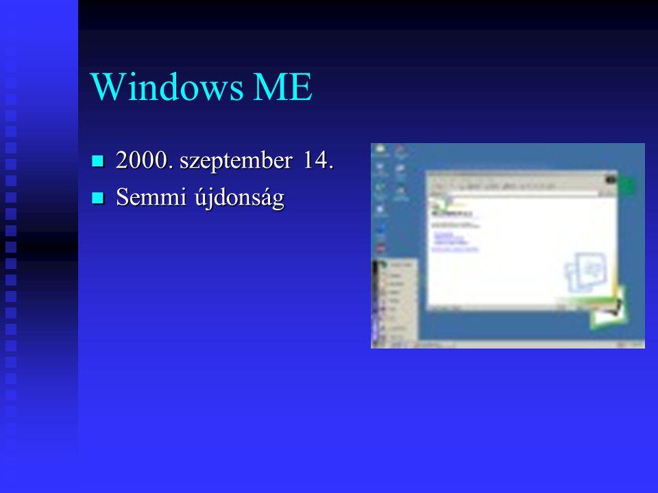 Windows ME 2000. szeptember 14. Semmi újdonság