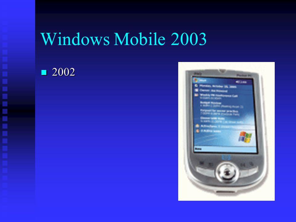 Windows Mobile 2003 2002