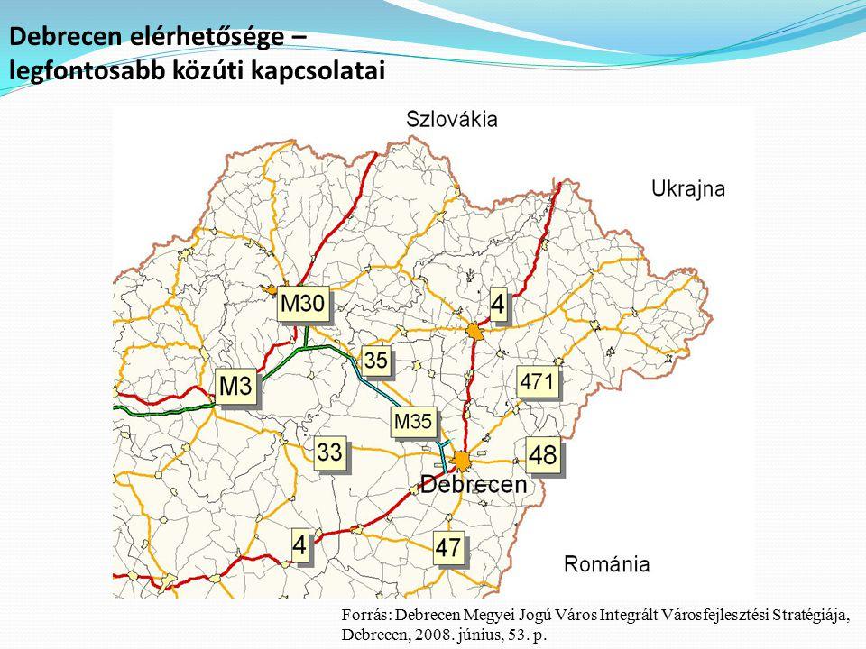 Debrecen elérhetősége – legfontosabb közúti kapcsolatai