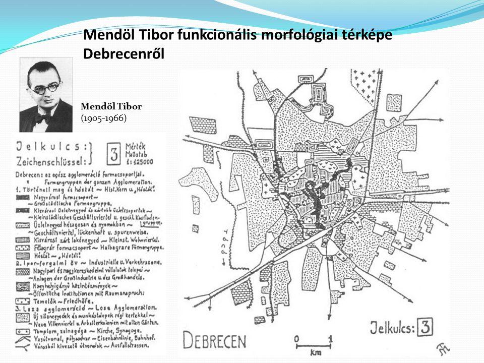 Mendöl Tibor funkcionális morfológiai térképe Debrecenről