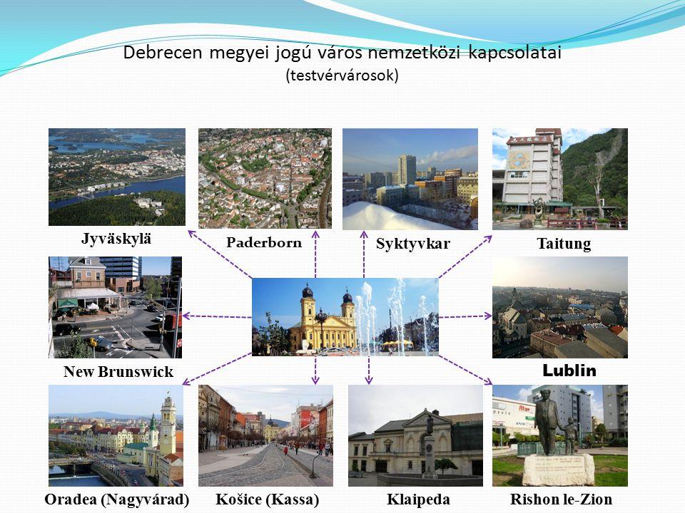 Debrecen megyei jogú város nemzetközi kapcsolatai (testvérvárosok)