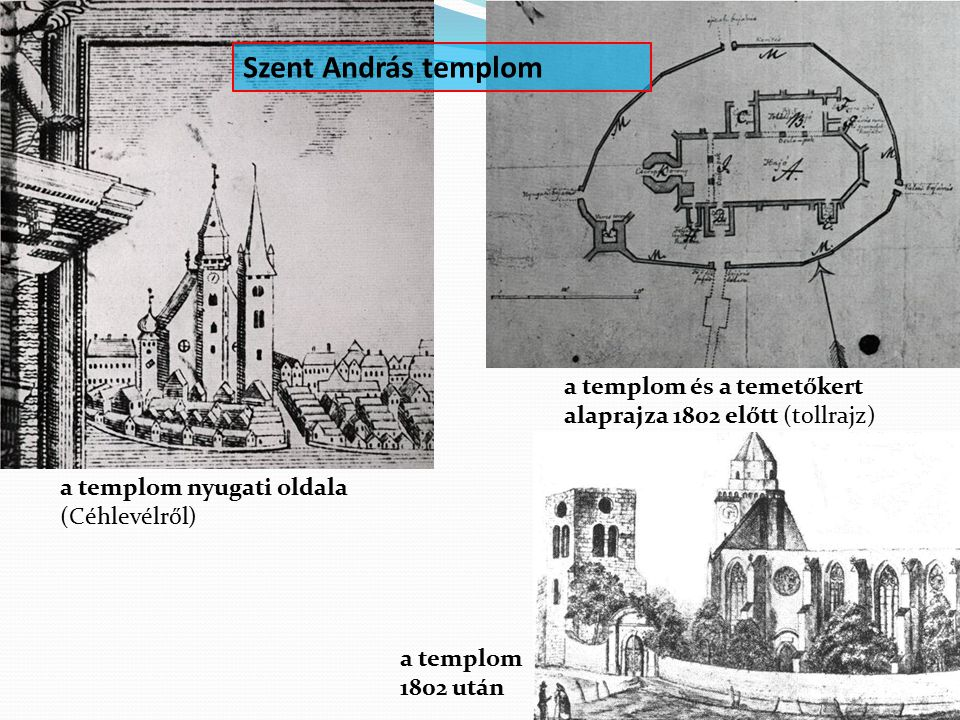 Szent András templom a templom és a temetőkert