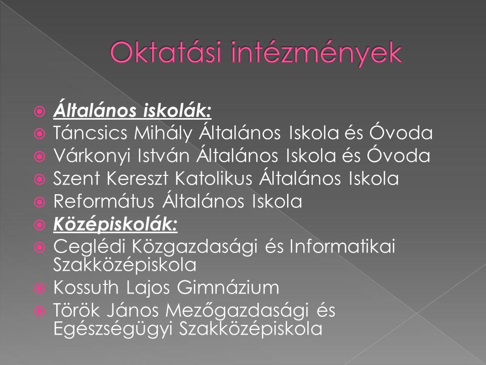 Oktatási intézmények Általános iskolák:
