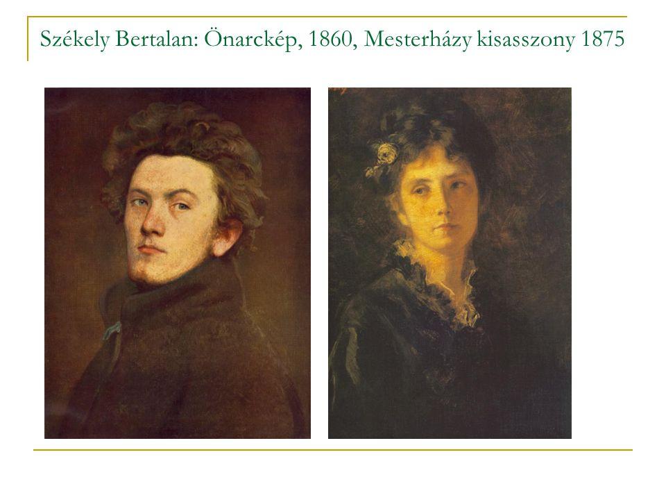Székely Bertalan: Önarckép, 1860, Mesterházy kisasszony 1875