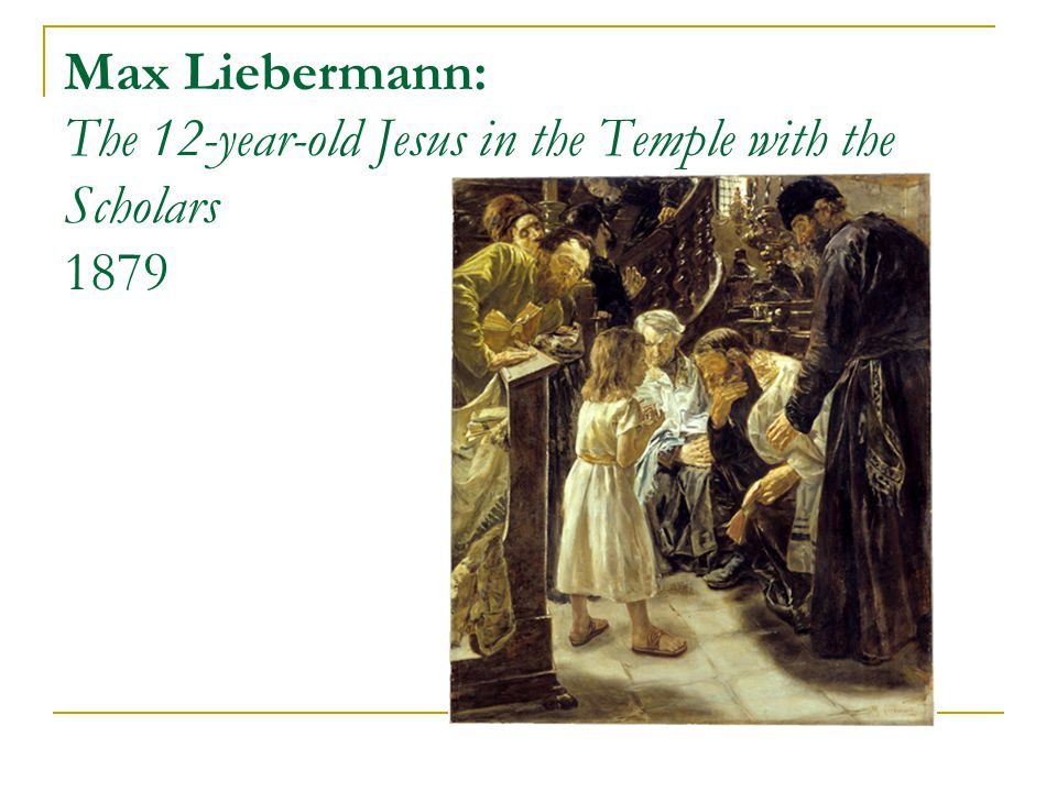 Max Liebermann: The 12-year-old Jesus in the Temple with the Scholars 1879