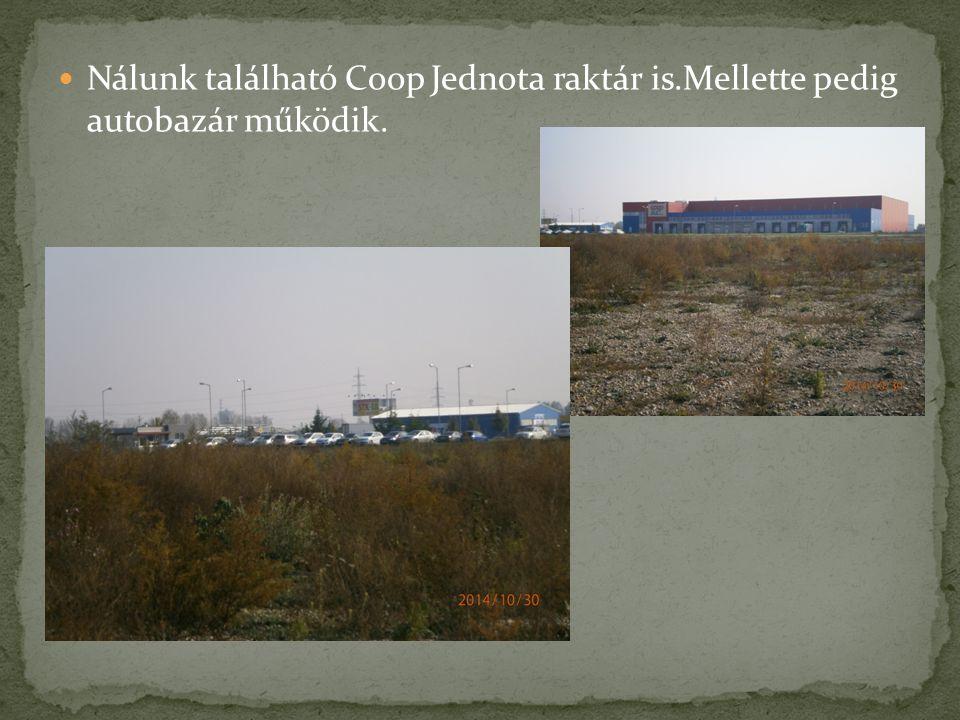 Nálunk található Coop Jednota raktár is