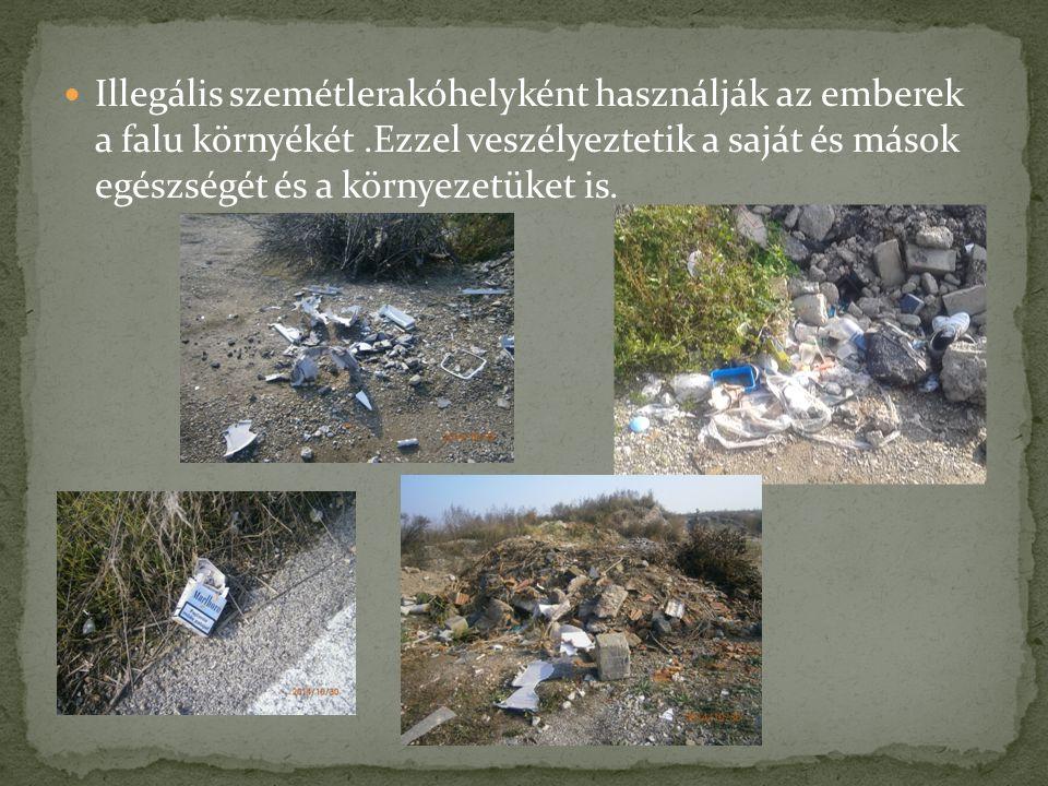 Illegális szemétlerakóhelyként használják az emberek a falu környékét