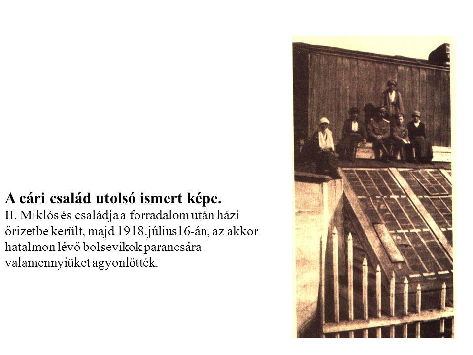 A cári család utolsó ismert képe.