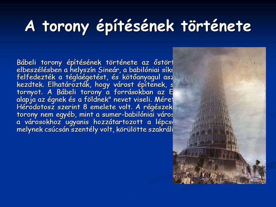 A torony építésének története
