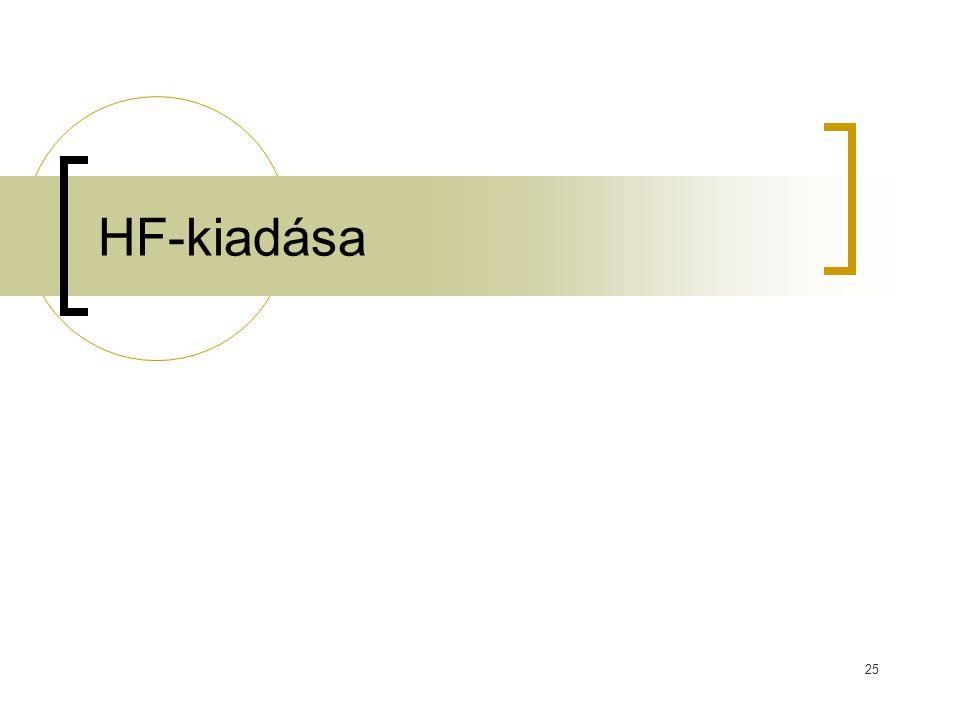 HF-kiadása