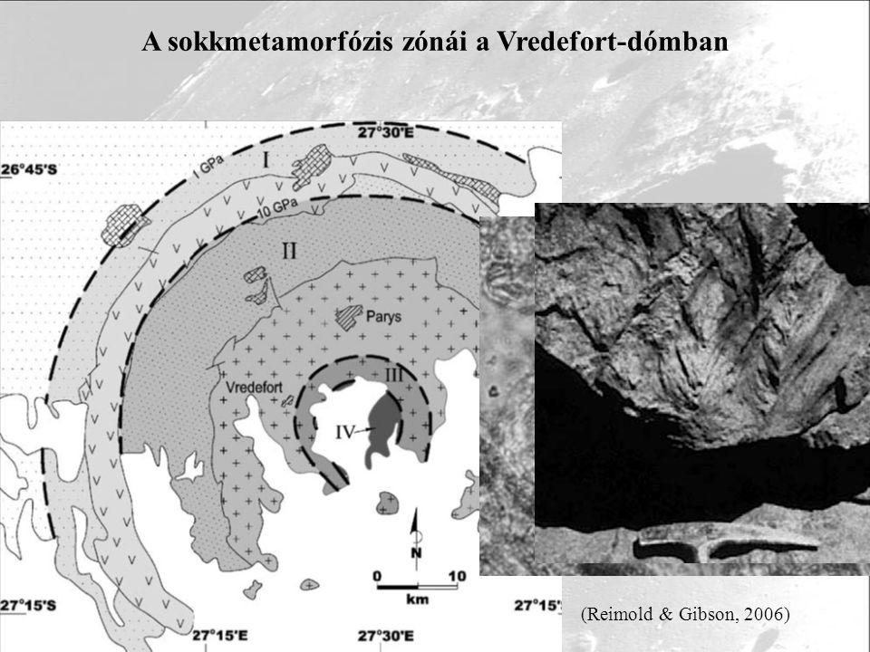 A sokkmetamorfózis zónái a Vredefort-dómban