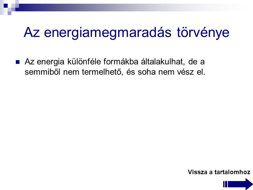 Az energiamegmaradás törvénye