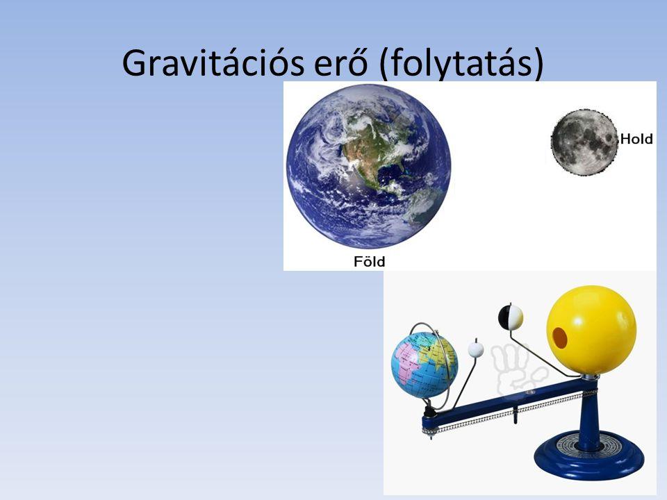 Gravitációs erő (folytatás)