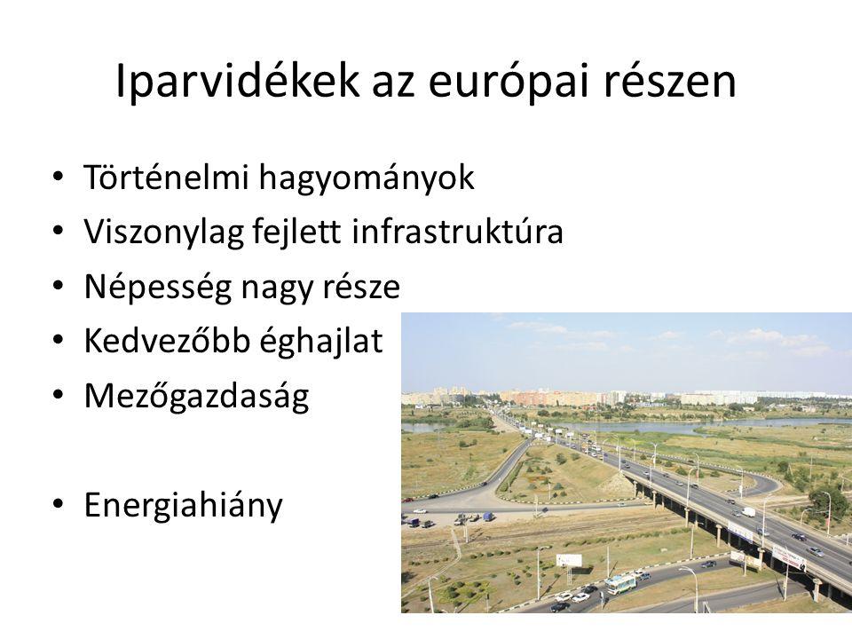 Iparvidékek az európai részen