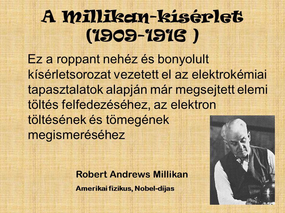 A Millikan-kísérlet (1909-1916 )