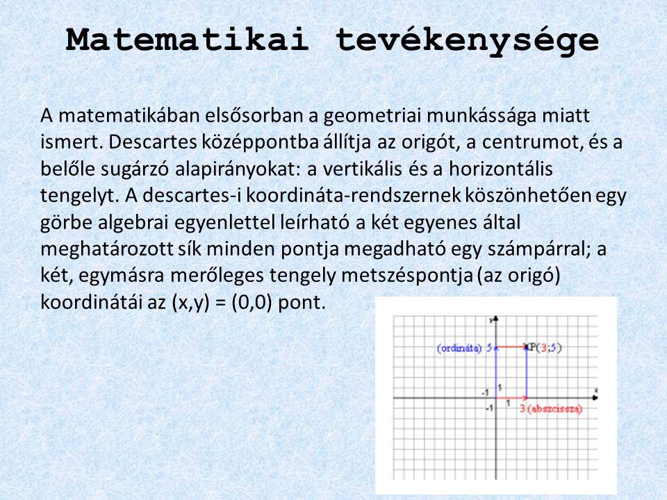 Matematikai tevékenysége