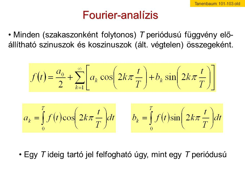 Tanenbaum: 101-103.old Fourier-analízis.