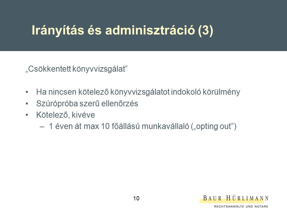 Irányítás és adminisztráció (3)