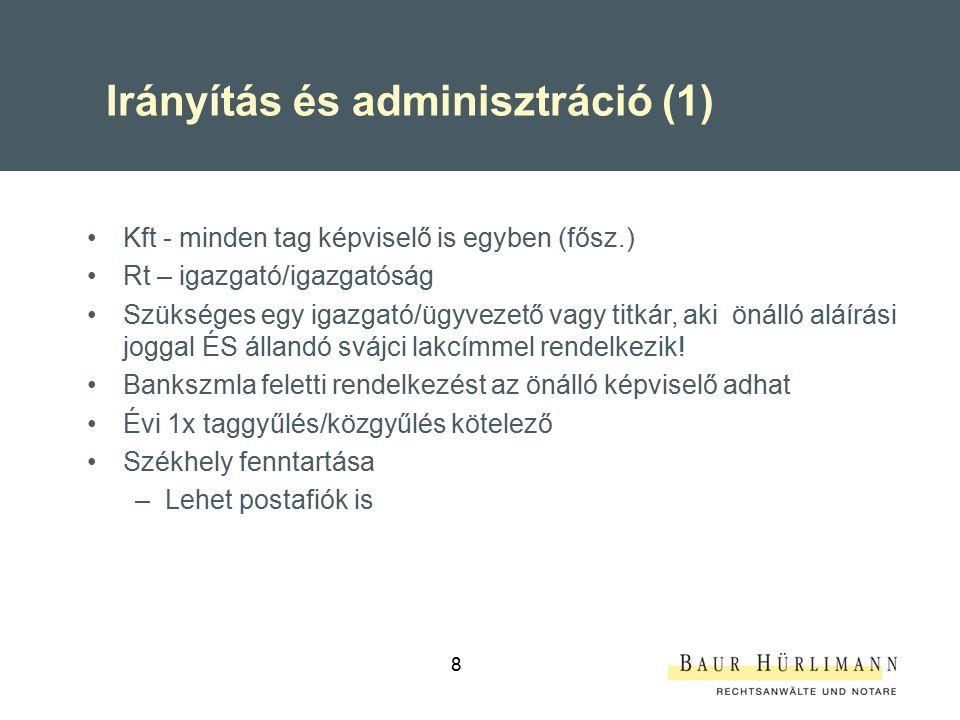 Irányítás és adminisztráció (1)