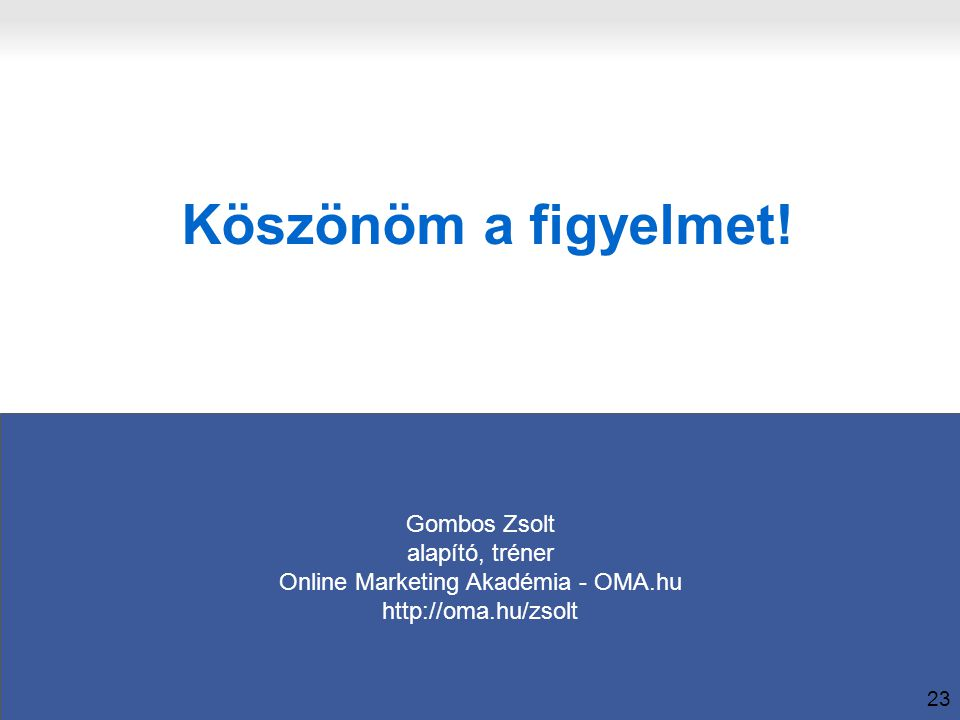 Online Marketing Akadémia - OMA.hu