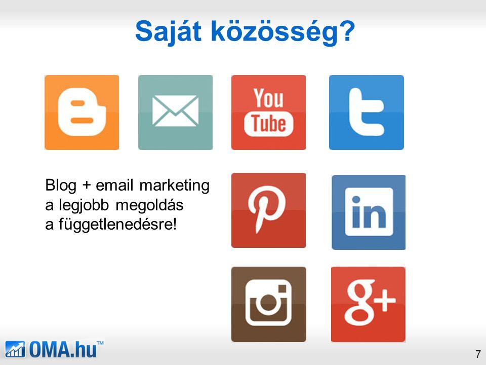 Saját közösség Blog + email marketing a legjobb megoldás