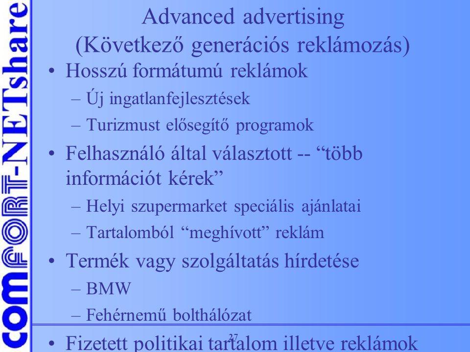 Advanced advertising (Következő generációs reklámozás)