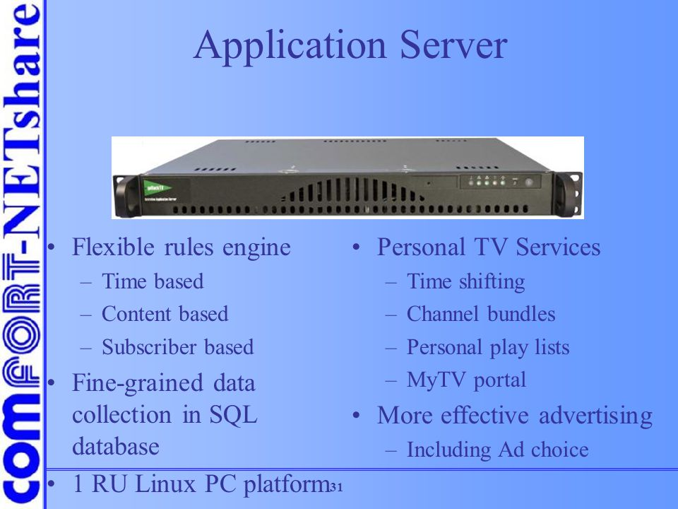 Application Server Flexible rules engine