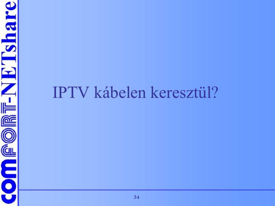 IPTV kábelen keresztül