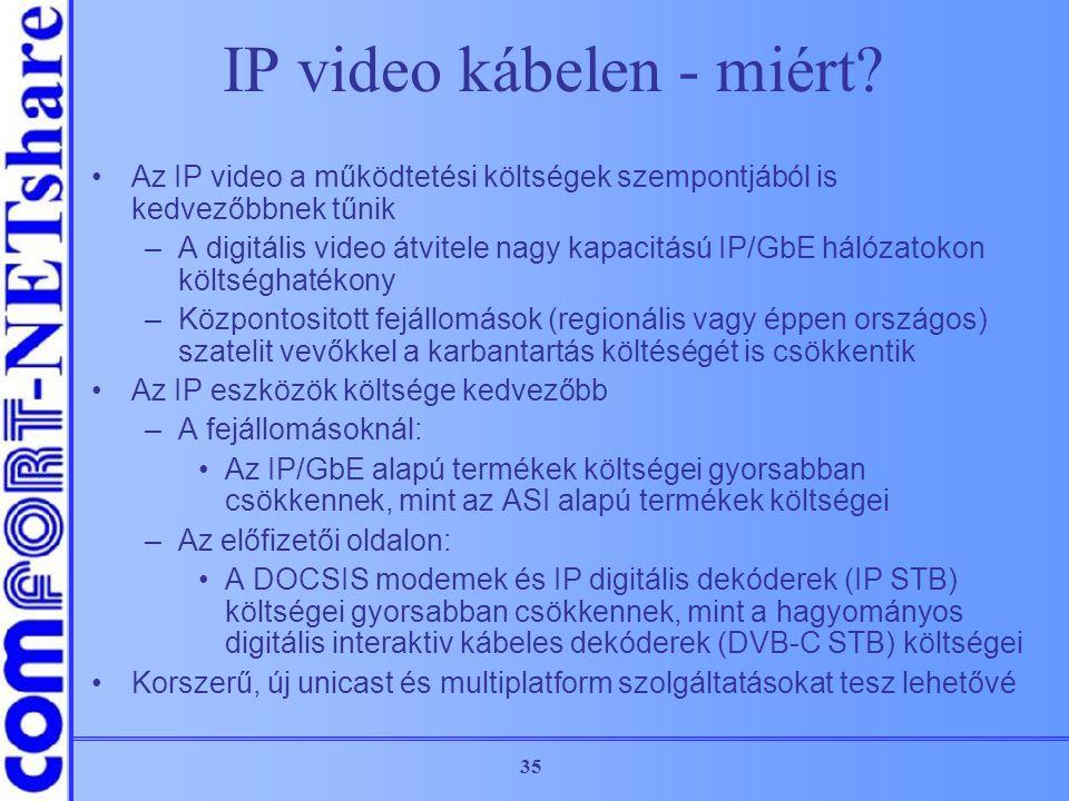 IP video kábelen - miért