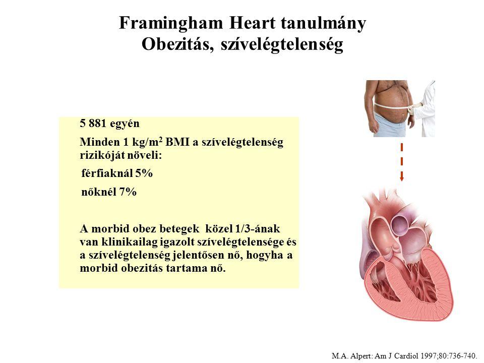 Framingham Heart tanulmány Obezitás, szívelégtelenség