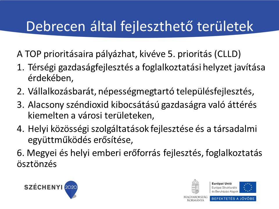 Debrecen által fejleszthető területek