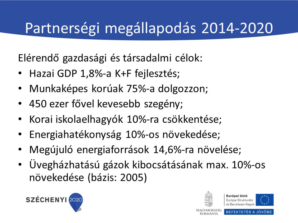 Partnerségi megállapodás 2014-2020