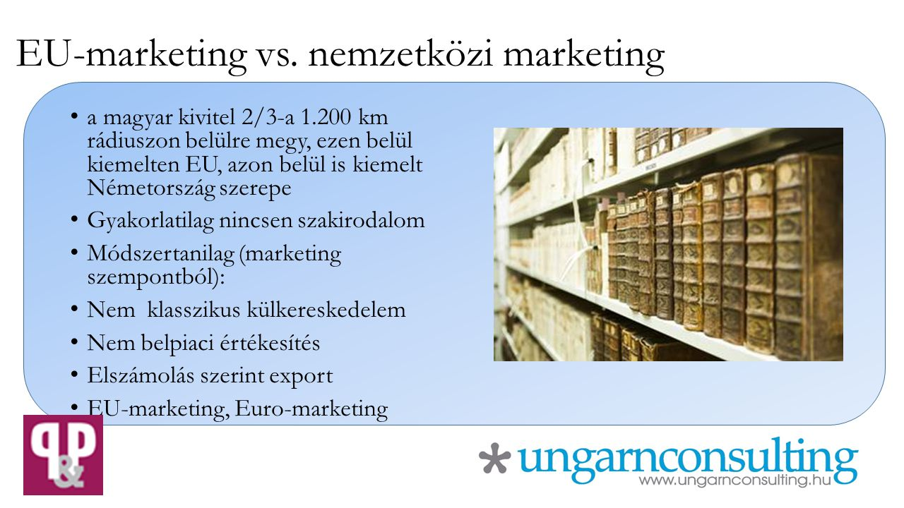 EU-marketing vs. nemzetközi marketing