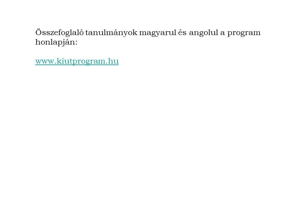 Összefoglaló tanulmányok magyarul és angolul a program honlapján: