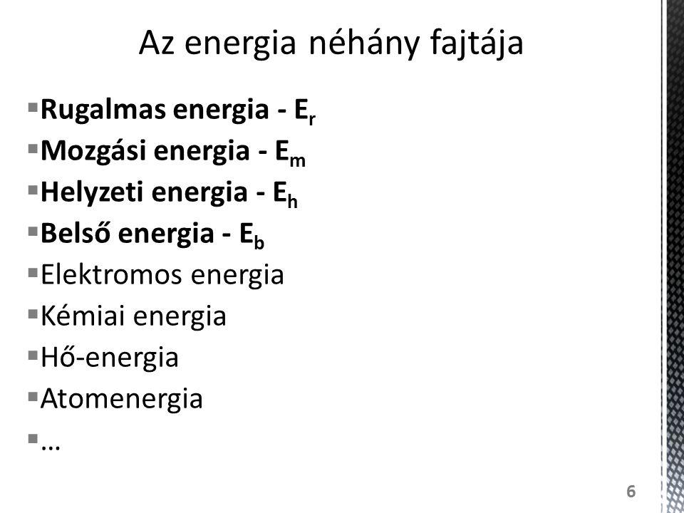 Az energia néhány fajtája