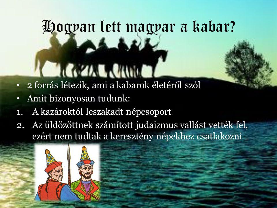 Hogyan lett magyar a kabar