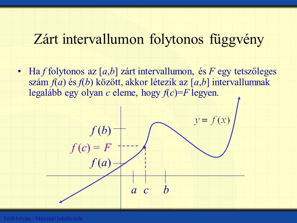 Zárt intervallumon folytonos függvény