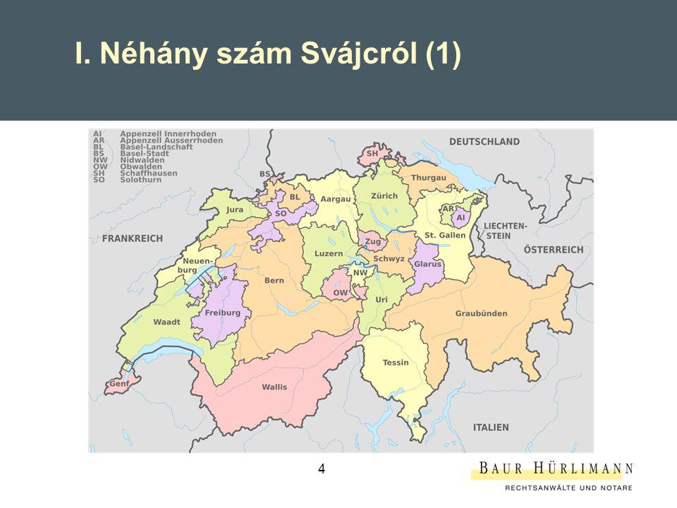 I. Néhány szám Svájcról (1)