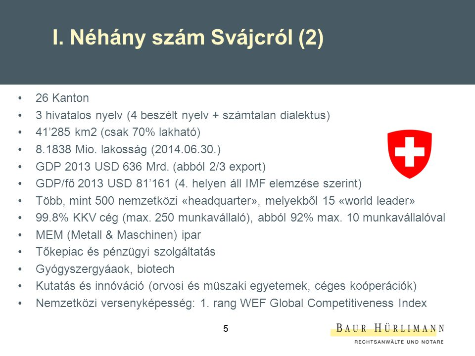 I. Néhány szám Svájcról (2)