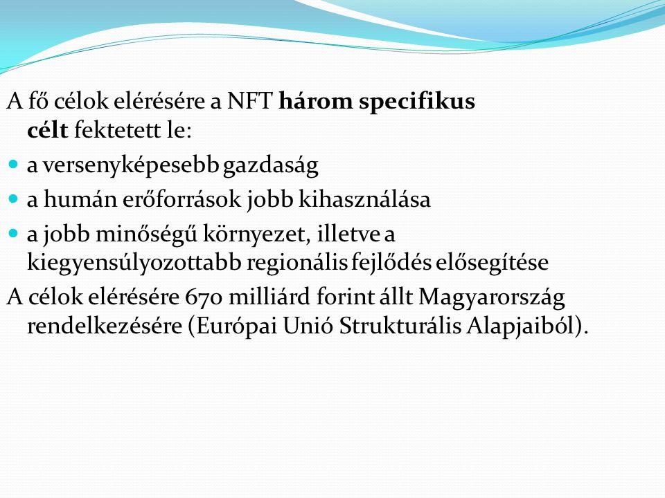 A fő célok elérésére a NFT három specifikus célt fektetett le: