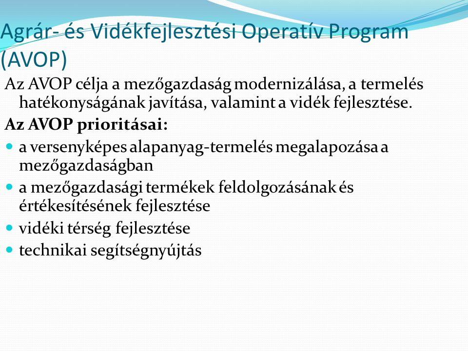 Agrár- és Vidékfejlesztési Operatív Program (AVOP)