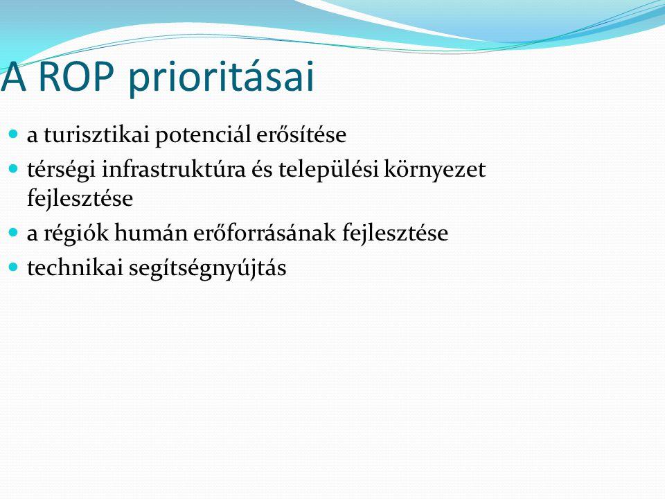 A ROP prioritásai a turisztikai potenciál erősítése